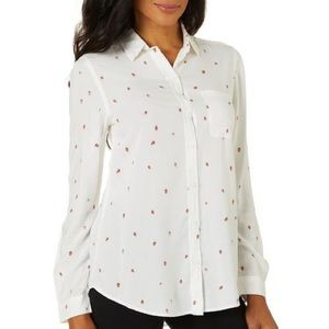 Strawberry Print Long Sleeve Shirt